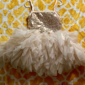 Gold Sequined Tutu Dress size 3t
